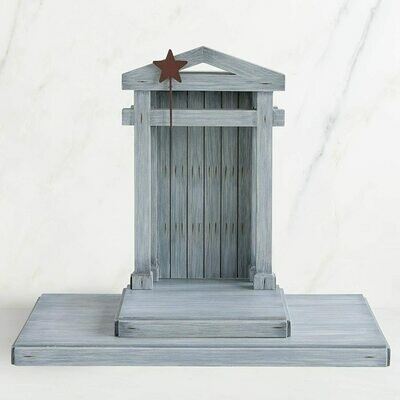 Willow Tree: Nativity Collection - Wooden Creche / Stable with Star