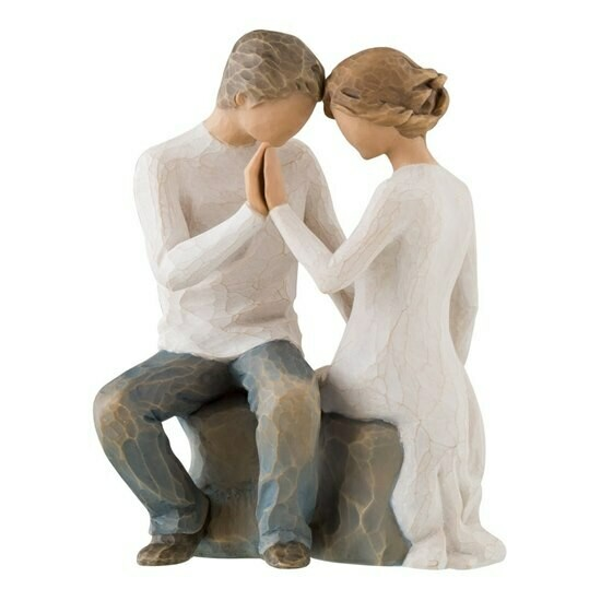 Willow Tree: Around You - Couple Sitting Touching/Holding Hands