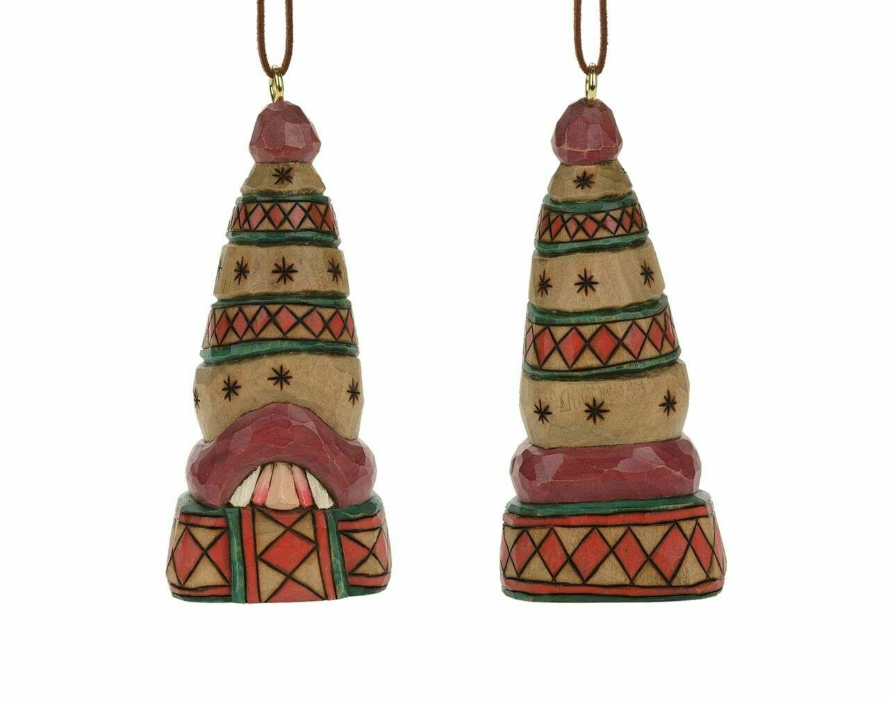 """Cottage Carvings Below Zero Scarf Santa Head Ornament - 5"""" - will stand or hang - Canadian Artist Dave Francis"""