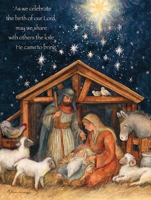 Lang Christmas Cards - Holy Family - 18 per Box