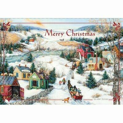 Lang Christmas Cards Petite - Sleigh Ride - 12 per Box - 5