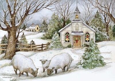 Lang Christmas Cards Petite - Grazing Morning - 12 per Box - 5