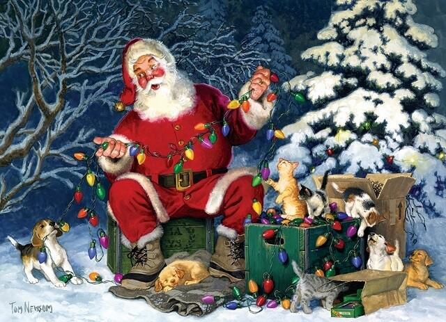 Santa's Little Helper - 500 Piece Cobble Hill Puzzle