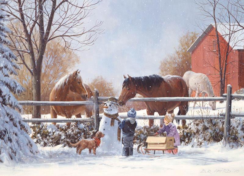 Frosty's Friends - Family Pieces - 350 piece Cobble Hill Puzzle