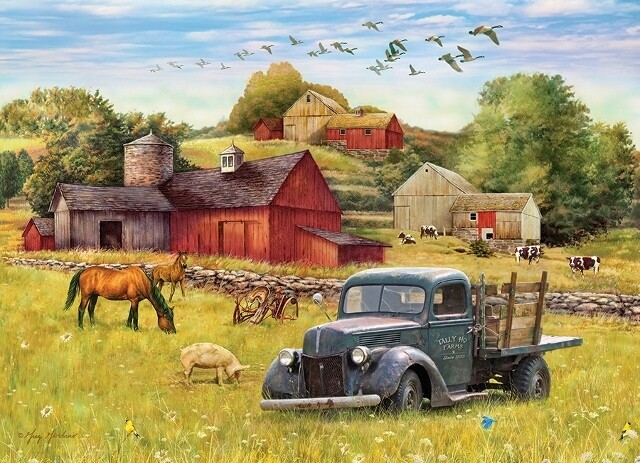 Summer Afternoon on the Farm - 500 Piece Cobble Hill Puzzle