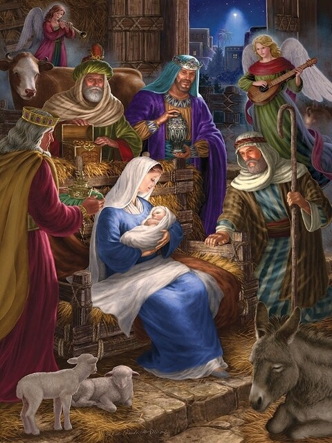 Holy Night - Family Pieces - 350 Piece Cobble Hill Puzzle