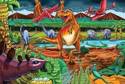 Dinosaur Volcano - Floor Puzzle - 36 Pieces - Cobble Hill