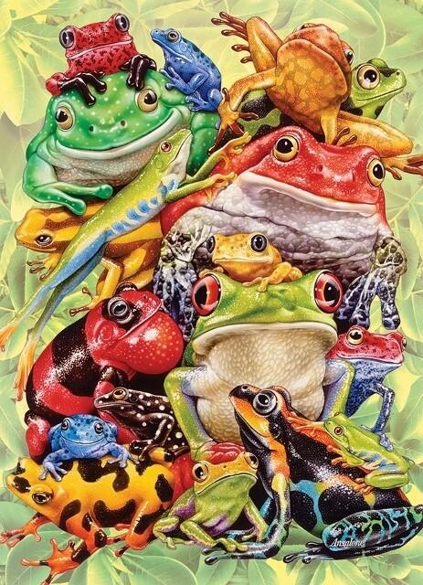 Frog Pile - 500 Piece Cobble Hill Puzzle