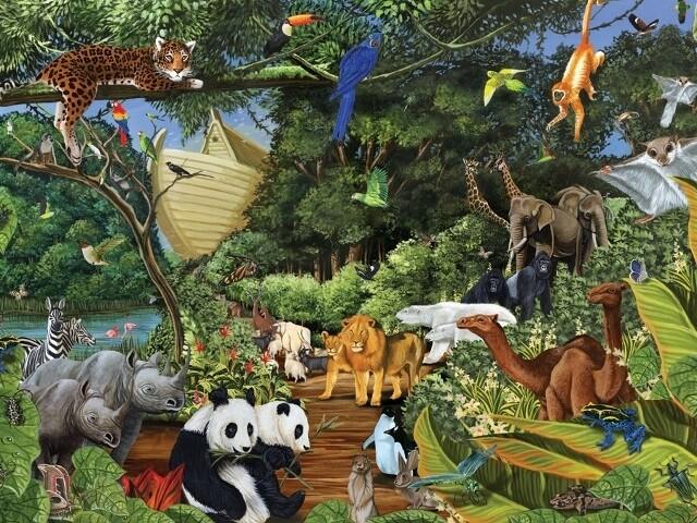 Noah's Gathering - Family Pieces - 350 piece Cobble Hill Puzzle