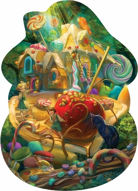 Hansel and Gretel - Shaped Floor Puzzle - 24 Pieces - Cobble Hill