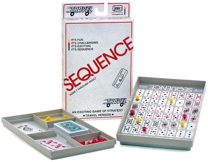 Sequence Travel - ages 7 and up, for 2  players