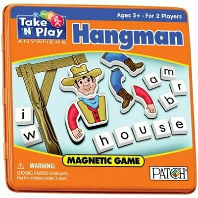 Hangman Game Tin - Magnetic Take and play