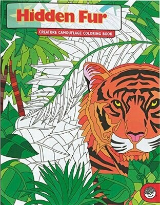 Hidden Fur Colouring Book - Creature Camouflage Colouring Book