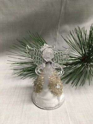 Glass  Angel / Fairy Ornament - 3.5