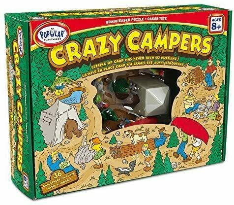 Crazy Campers - Fun Brainteaser Solitaire game