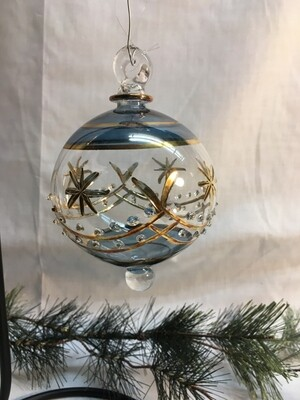 Egyptian Glass Christmas Ornament - Cut glass - handmade in Egypt