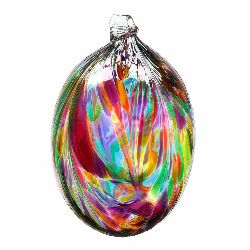 "3"" Oval Feather Friendship Ball - Festive Multi"