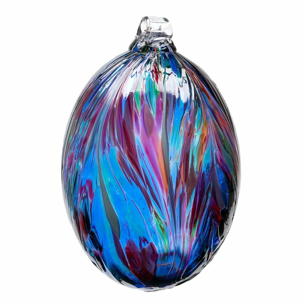 """3"""" Oval Feather Friendship Ball - Classic Multi"""