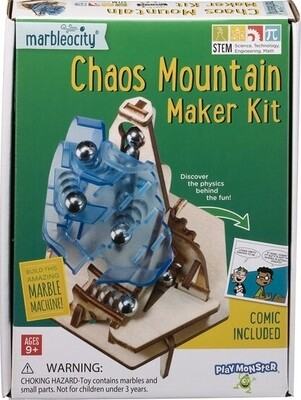 Marbleocity - Chaos Mountain Marble Machine Making Kit - ages 9 and up