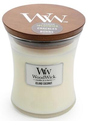 Island Coconut - Medium - WoodWick Candle