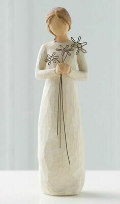 Willow Tree: Grateful - Girl with wire flowers