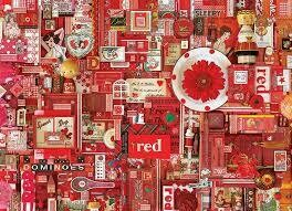 Red - 1000 Piece Cobble Hill Puzzle by Shelley Davies