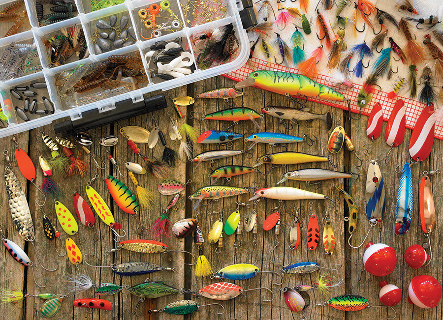 Fishing Lures - 500 Piece Cobble Hill Puzzle