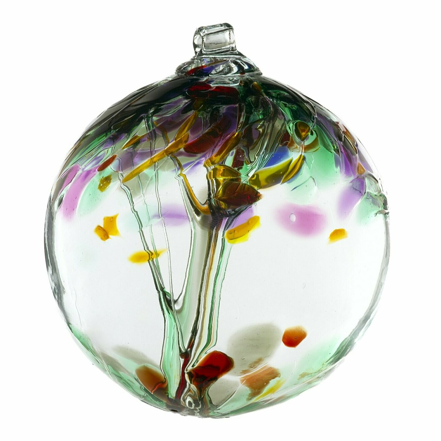 """Tree of Enchantment 6"""" - Remembrance - Friendship Ball - Canadian Blown Glass"""