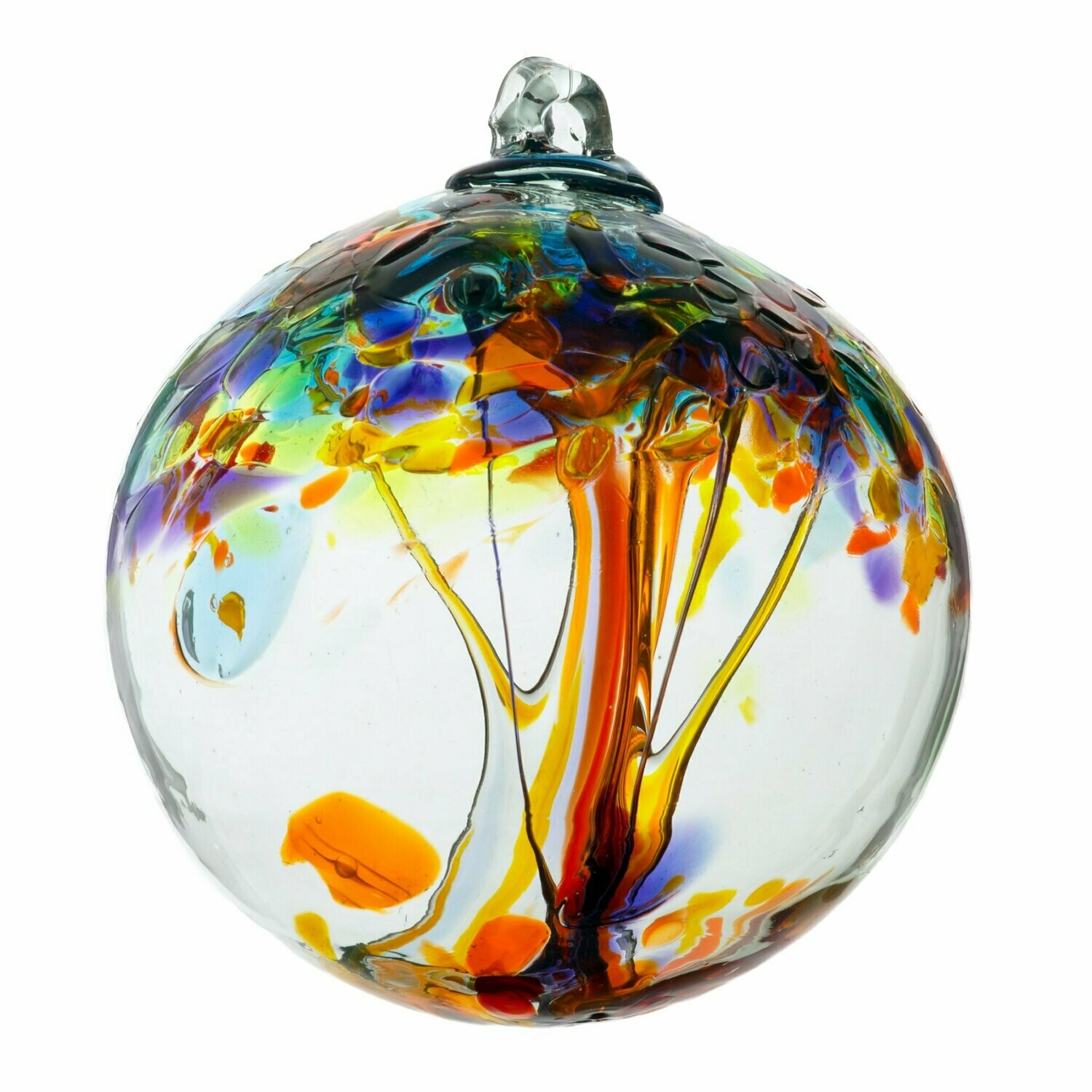 """Tree of Enchantment 6"""" - Happiness - Friendship Ball - Canadian Blown Glass"""