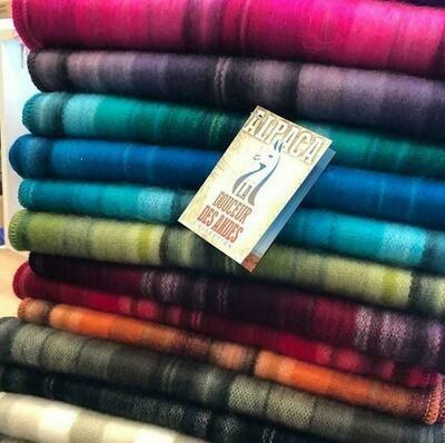 Alpaca Scarf - made in Ecuador - Assorted Colours in soft stripe design
