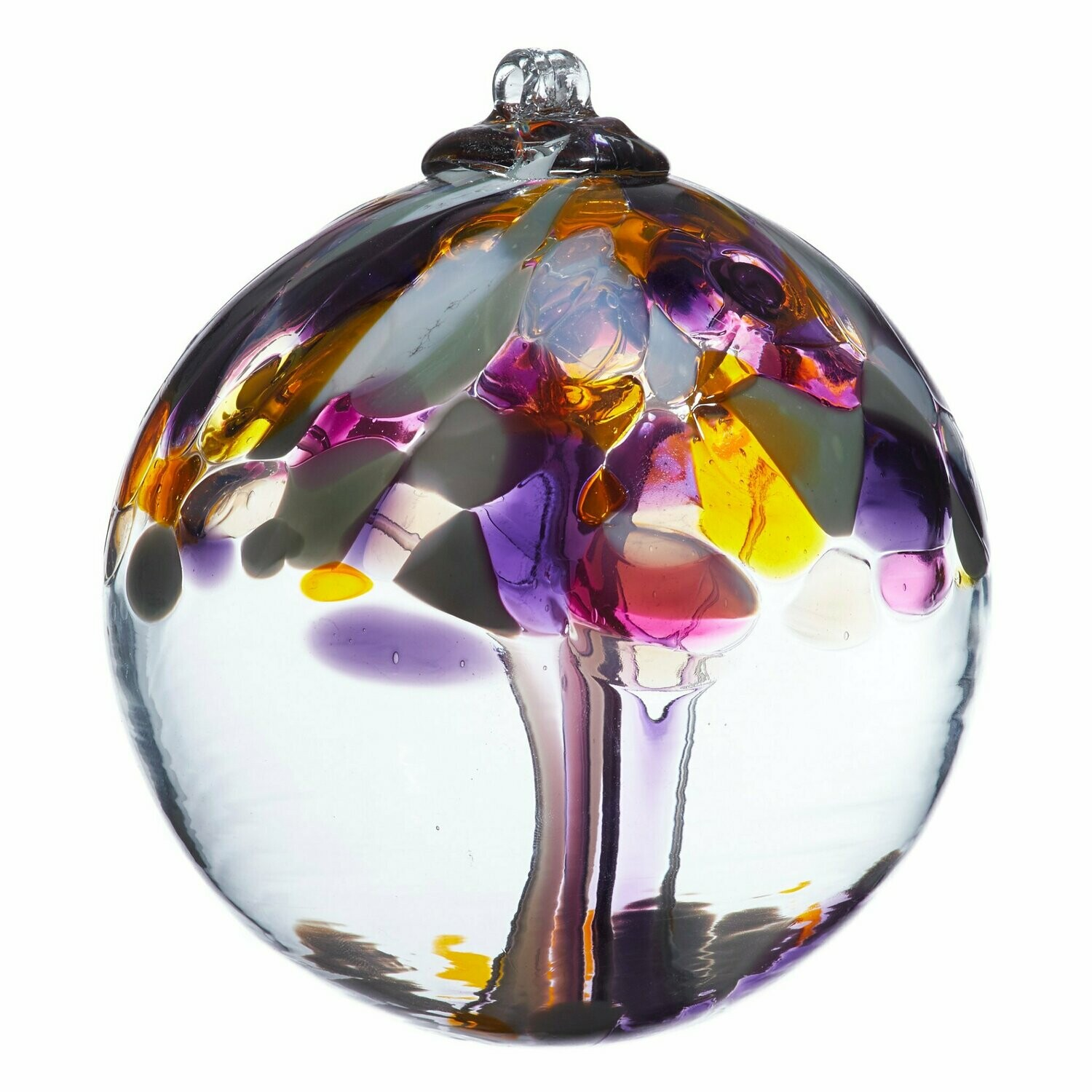 """Tree of Enchantment 6"""" - Grandparents - Friendship Ball - Canadian Blown Glass"""