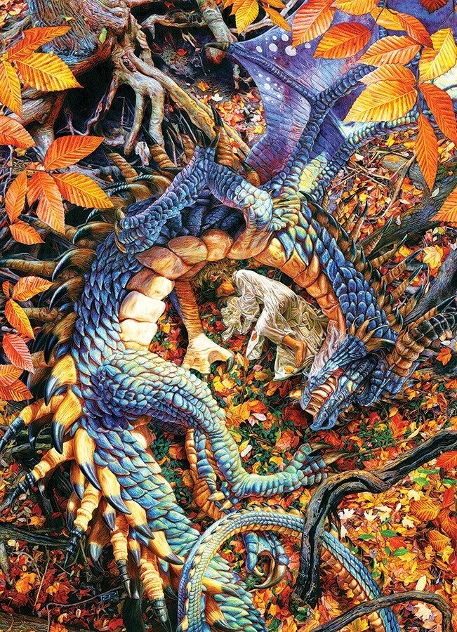 Abbys Dragon - 1000 Piece Cobble Hill Puzzle