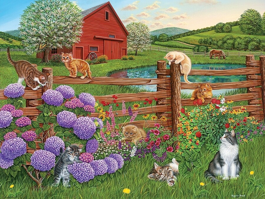 Farm Cats - Easy Handling - 275 Piece Cobble Hill Puzzle