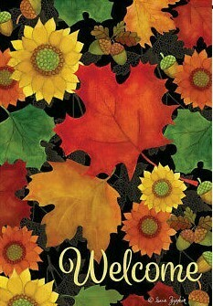 "Fall Foliage - Garden Flag - 12.5 "" x 18"""