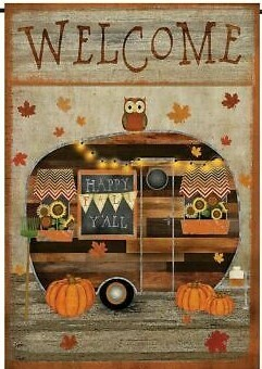 "Fall Camper - Garden Flag - 12.5 "" x 18"""