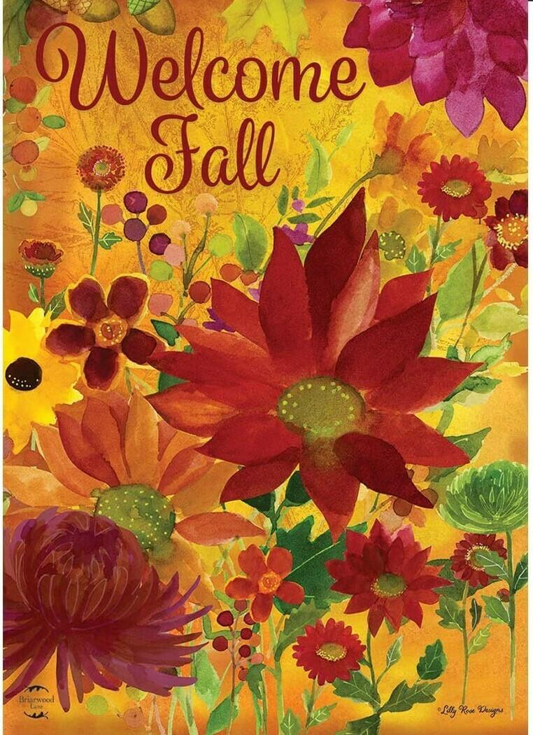 """Fall Floral - Garden Flag - 12.5 """" x 18"""""""