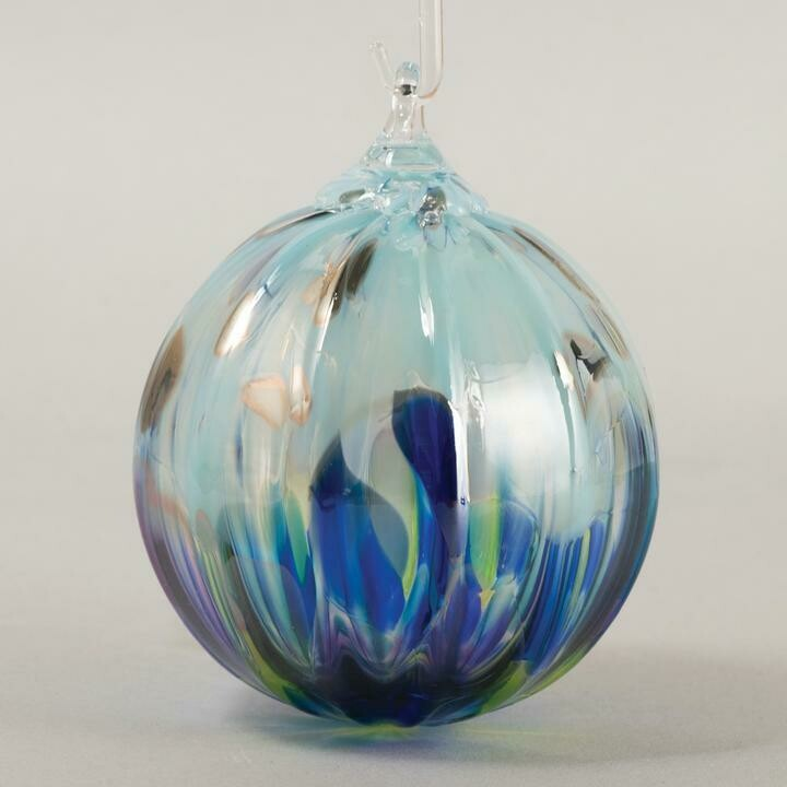"3"" Glass Eye Studio - Island Sprinkle - Friendship Ball - handblown in USA"