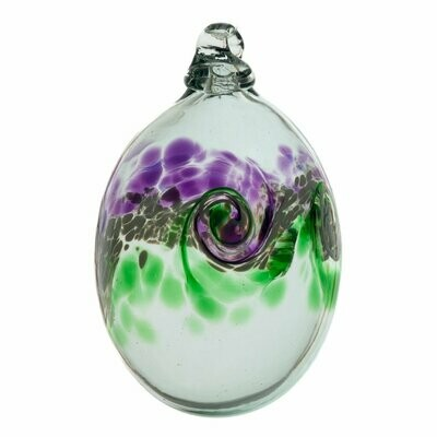 "2"" Van Glow Oval Friendship Ball - Purple/Green"