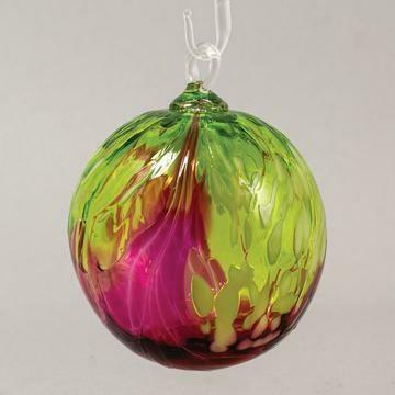 "3"" Glass Eye Studio - Bellina Orchid - Friendship Ball - handblown in USA"