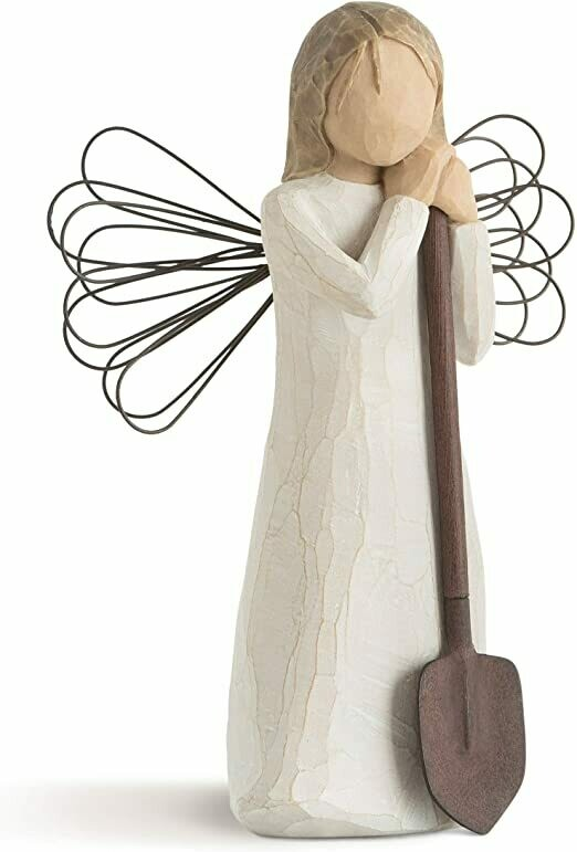 Willow Tree: Angel of The Garden - Standing Holding Garden Spade - Wire Wings