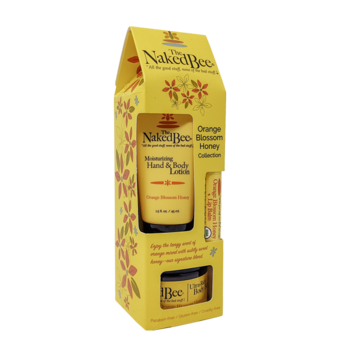 Gift Set - Lotion, Lip Balm & Body Butter - Orange Blossom Honey