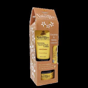 Gift Set - Lotion, Lip Balm & Body Butter - Coconut & Honey