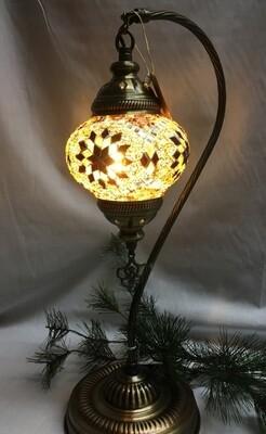 Mosaic Glass Table Lamp - Brown Pinwheel