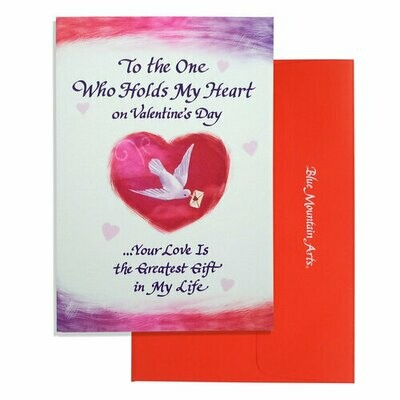 Valentine - To the One Who Holds My Heart - Blue Mountain Arts Cards