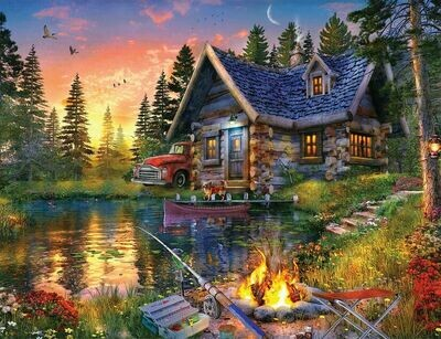 Sun Kissed Cabin - 500 Piece Springbok Puzzle