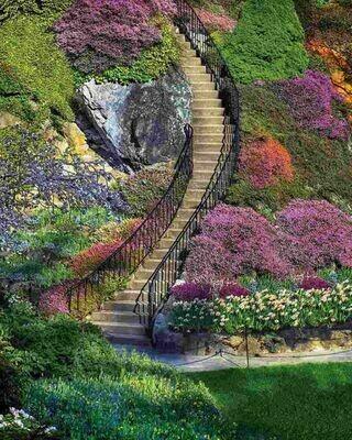 Garden Stairway - 500 Piece Springbok Puzzle