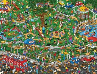 The Dog Park - 500 Piece Springbok Puzzle
