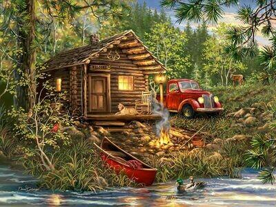 Cozy Cabin Life - 500 Piece Springbok Puzzle