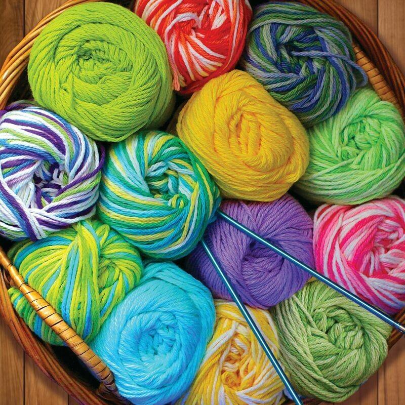 Colourful Yarn - 500 Piece Springbok Puzzle