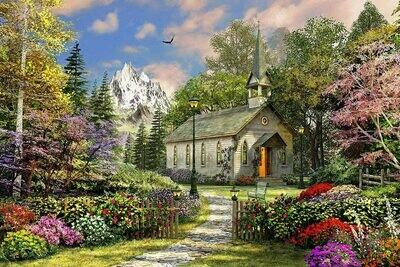 Mountain View Chapel - 500 Piece Springbok Puzzle